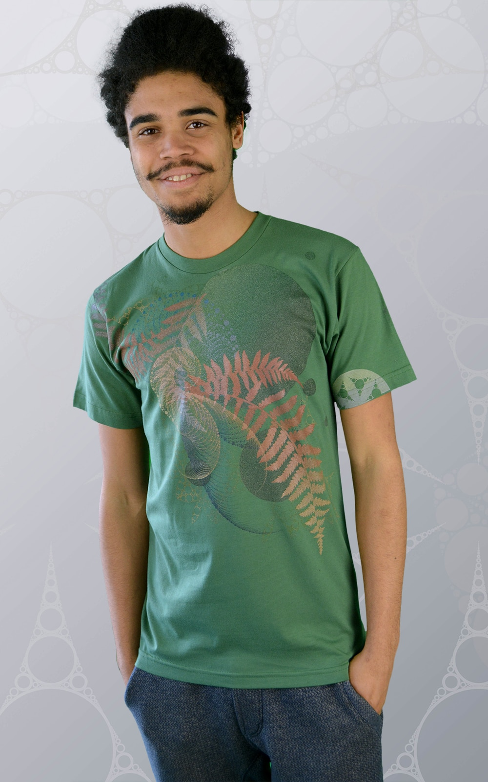 Organic Cotton T Shirt Green 39 Music Of The Spheres