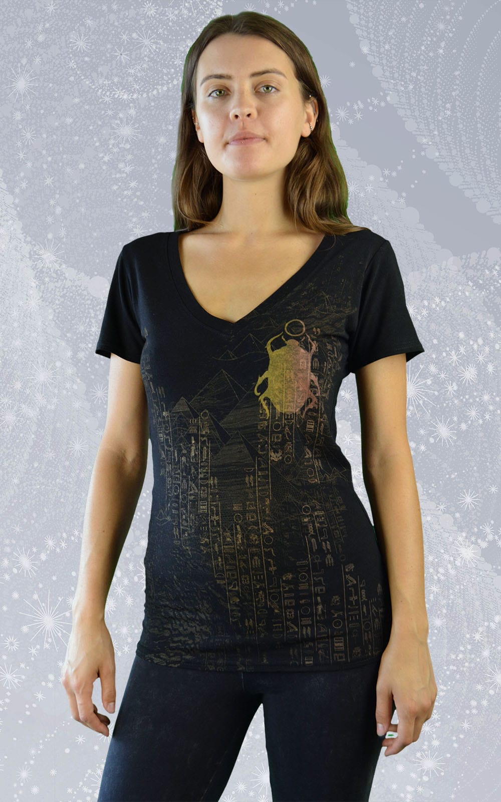 Women 39 s v neck t shirt made in canada ankh inkspoon for Bamboo v neck t shirts